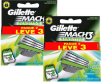 Carga Gillette Mach 3 Sensitive Leve 3 pague 2