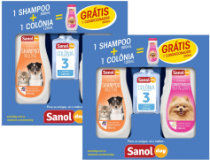 Kit Shampoo 500ml + Colônia 120ml Sanol Dog